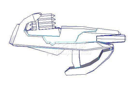 Modèle de papier 3D pistolet à carburant