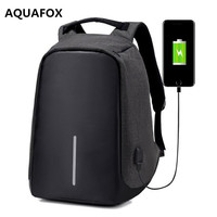 New Laptop Backpack Men Business Backpack USB Charger Waterproof Nylon Travel Backpacks For Female College Student