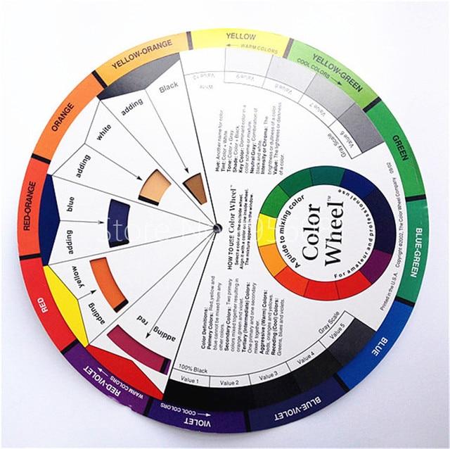5pcs Large Artist Colour Card Wheel Swatches Permanent Makeup Micro