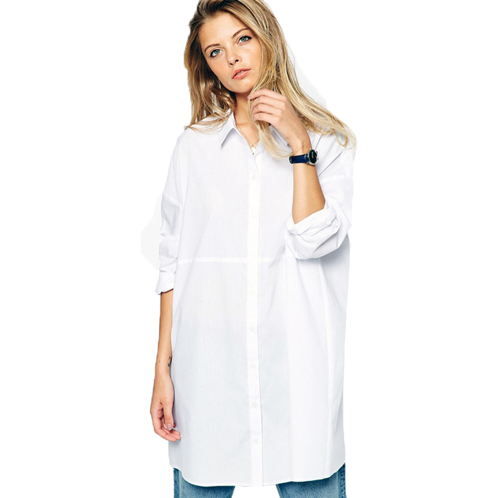SC03 2016 Spring Summer Women Casual Camisa White Blouse ...