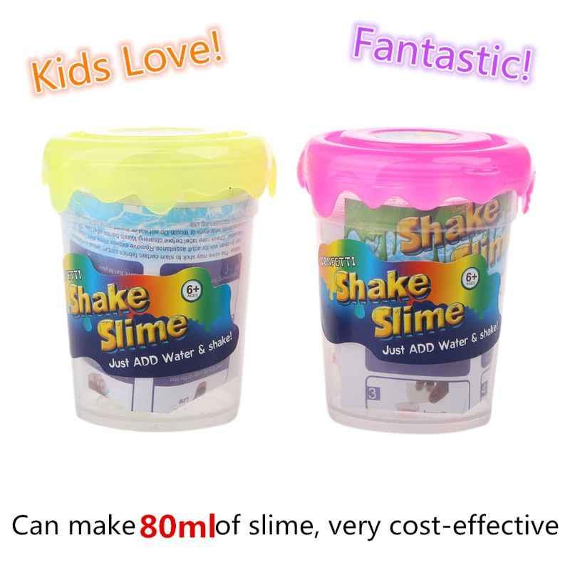 New Polymer Clay Magic sand Supplies Slime Powder Make 80ml Glitter Shake DIY Lizun With Slime Box Just Add Water slime kit