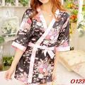 Sexy Mulheres Sleepwear Robe Quimono Japonês Traje Camisola Uniform-O123