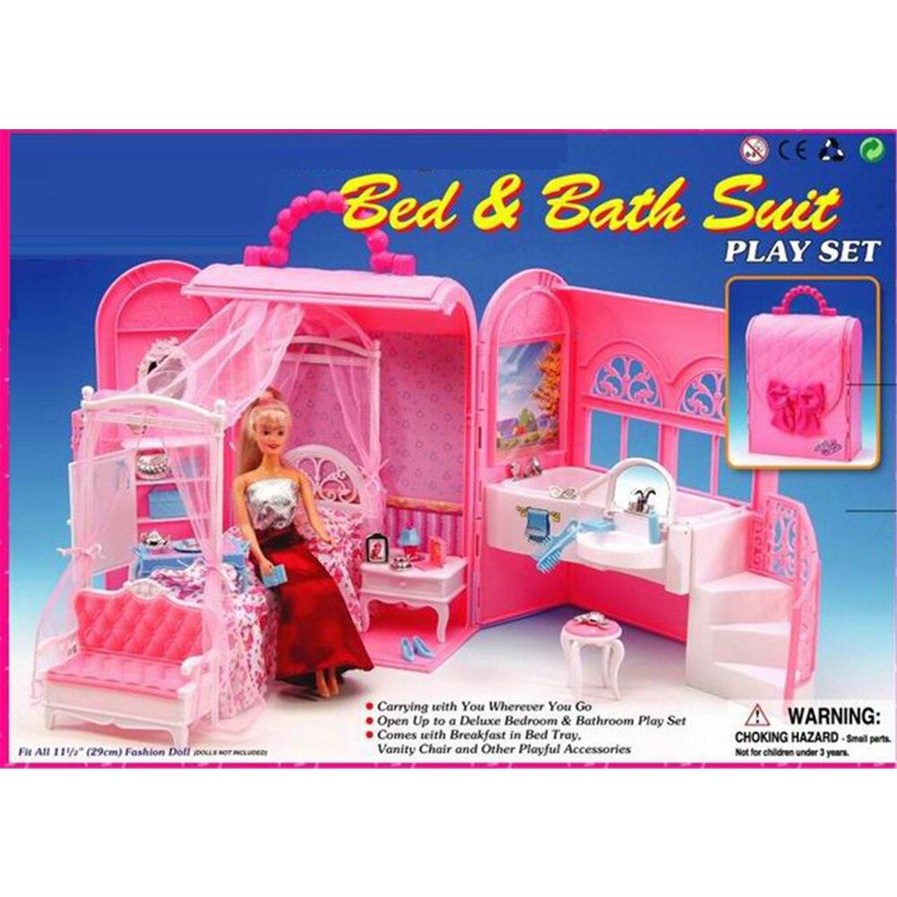 Miniature Furniture Bedroom Amp Bathroom Suit Mini