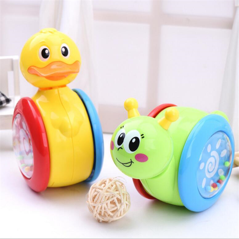 Hot Duck Snail Tumbler Cartoon Baby Inertia Pull Back Toys Early Childhood New Born Baby Gift Rattle Simulation Toy