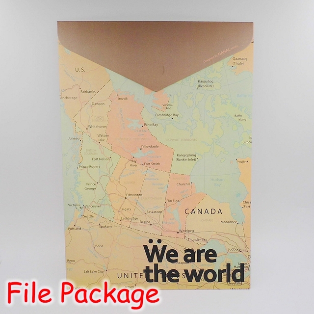 12 pieceslot the world map design vintage file bag hard paper 12 pieceslot the world map design vintage file bag hard paper gumiabroncs Images