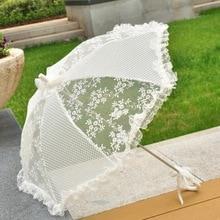 Woman Umbrella  Decoration Handmade Umbrellas Fashion for Wedding Bridesmaid Decoration Lace Umbrella Unbrella Christmas Z551