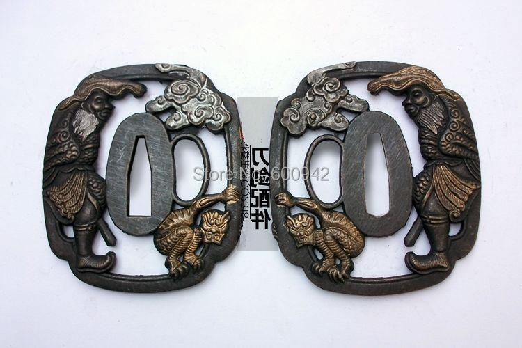 Продолговатые Фитинги Аксессуары Цуба для ушу меч ниндзя катана сабля броудсад kampilan