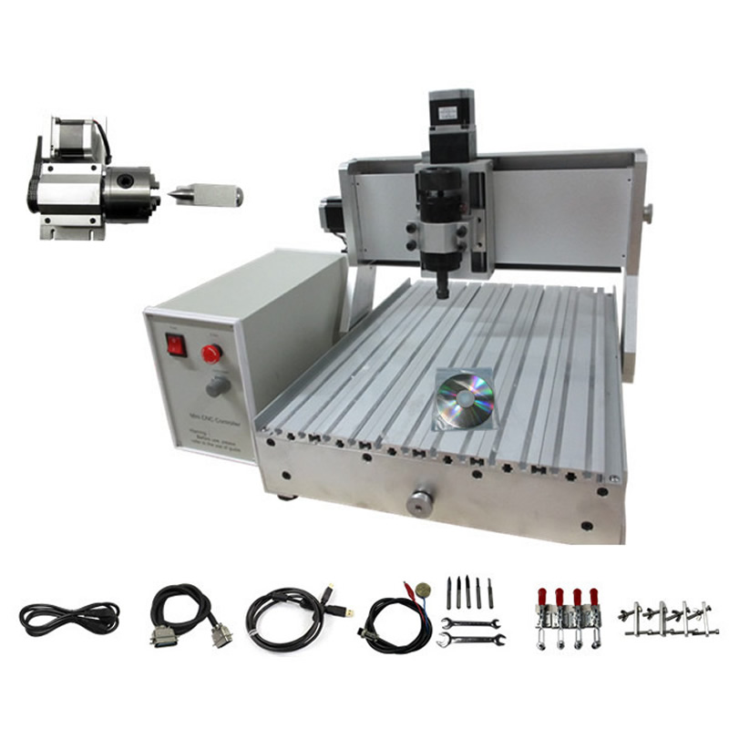 4 Axis CNC Machinery CNC 3040, woodworking machine with 500w spindle and USB interface покрывало cleo покрывало safi 240х260 см