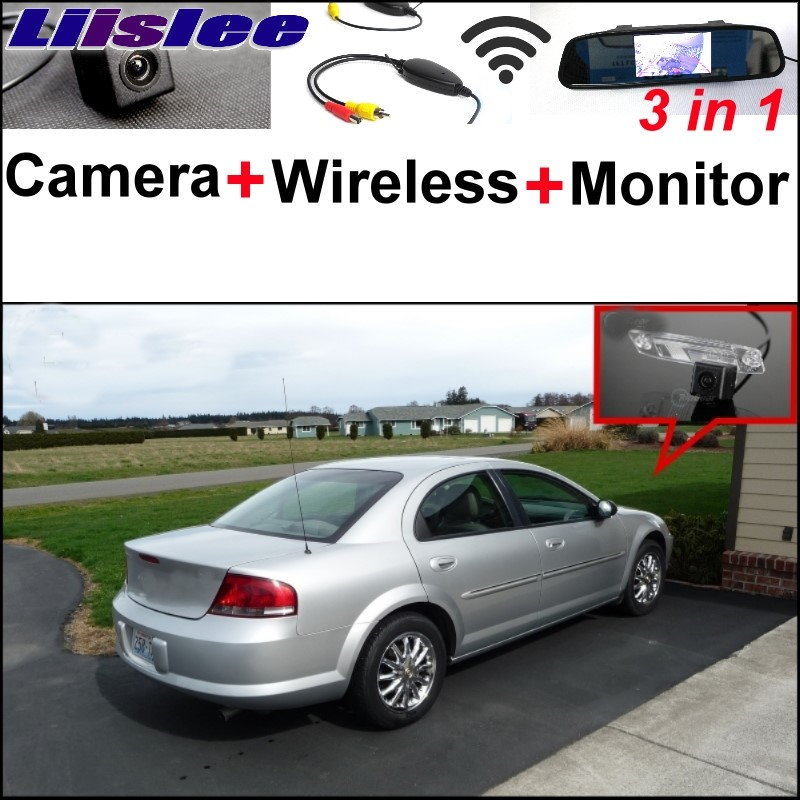Liislee 3 in1 Special Rear View Camera + Wireless Receiver + Mirror Monitor Bcakup Parking System For Chrysler Sebring 2007~2014 liislee 3 in1 special rear view camera wireless receiver mirror monitor diy parking system for mazda cx 3 cx 3 cx3 2014 2017
