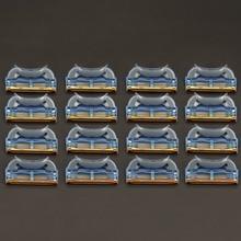 16 шт./упак. высокое качество 5 слойное Лезвие Бритвы Лезвия для мужчин бритья уход за лицом Кассеты для бритья Совместимость с Gillettee Fusione