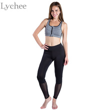 Sexy Gothic Summer Autumn Women Leggings Casual Black Mesh Patchwork Fitness Leggins Pants