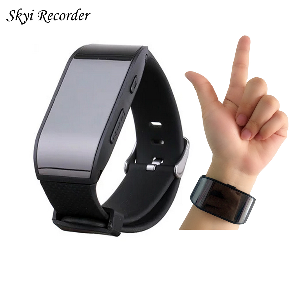 Luxury Digital Voice Recorder Professional Wearable 8GB Watch Recorder Pen Portable Sound Dictaphone MP3 Player Audio Recording