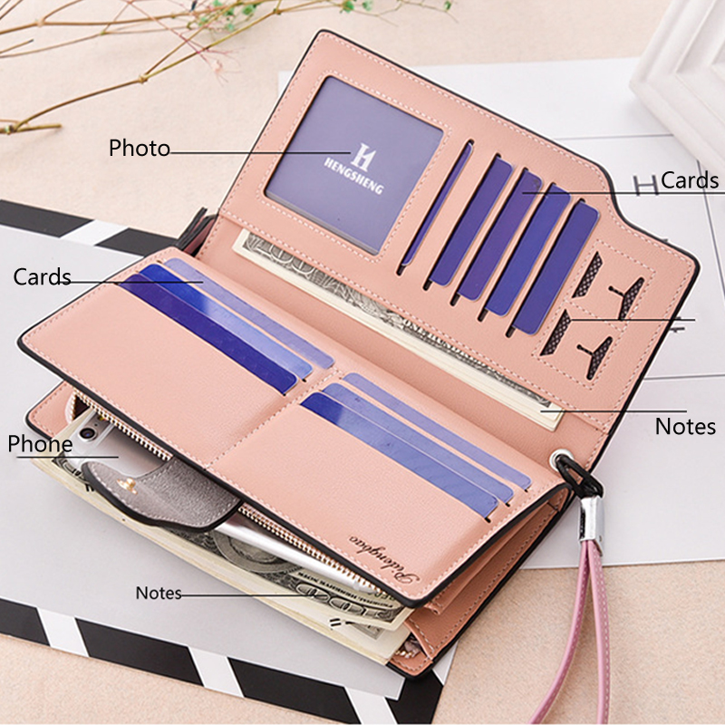 2019 New Design Leather Wallets Women Brand Purses For Woman Wallet Long Hasp Female Purse Card Holder Clutch Feminina Carteira