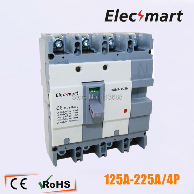 150A 4p korean type moulded case circuit breaker good for Iran market 400a 3p 220v ns moulded case circuit breaker
