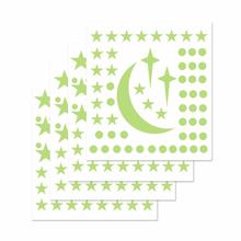 Fluorescent Sticker Baby Bedroom Luminous Moon Stars Glow In Dark Stickers Kids Attractive Novelty Toy Children Education Toys