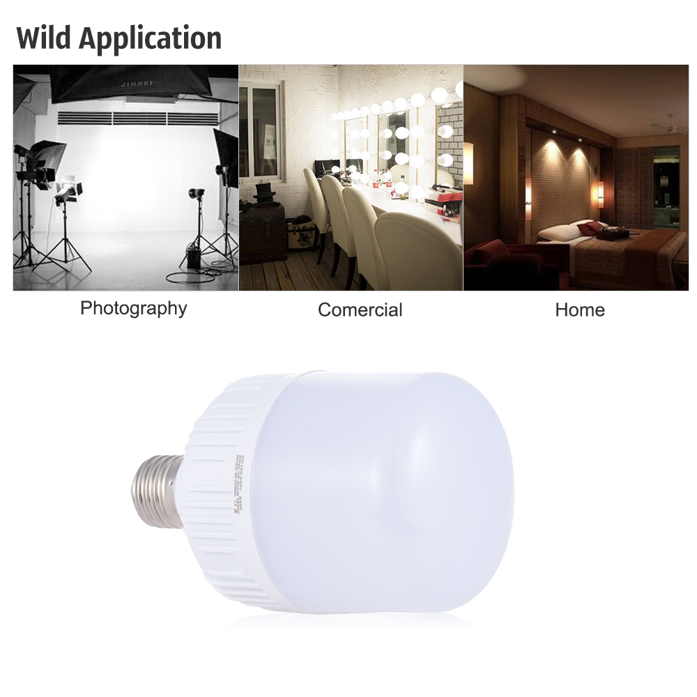 24W E27 Photography LED Bulb Light Lamp 54pcs Energy Saving Beads ...