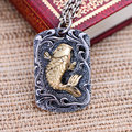 Black silver jewelry wholesale 925 sterling silver jewelry annual fish small carp Zhaocai male Pendant 039866w