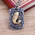Preto prata jóias atacado 925 jóias de prata anual de pequenos peixes carpa Zhaocai pingente masculino 039866 w