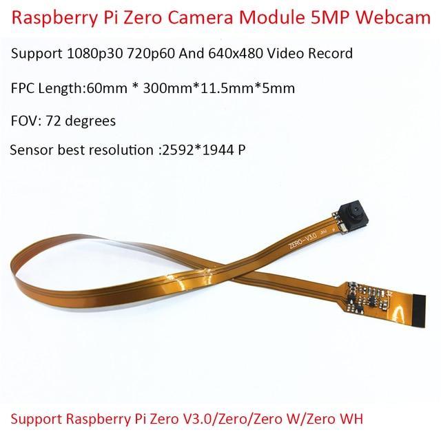 ラズベリーパイゼロカメラモジュール 5MP ウェブカメラサポート 1080p30 720p60 と 640 × 480 ビデオ録画のサポートラズベリーパイゼロ v3.0