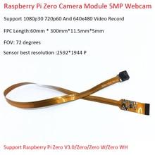 Módulo de cámara Raspberry Pi Zero 5MP Webcam soporte 1080p30 720p60 y 640x480 compatible con Raspberry Pi de grabación de vídeo Zero V3.0