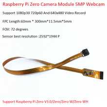 Raspberry Pi Zero Camera Module 5MP Webcam Support 1080p30 720p60 And 640x480 Video Record V3.0