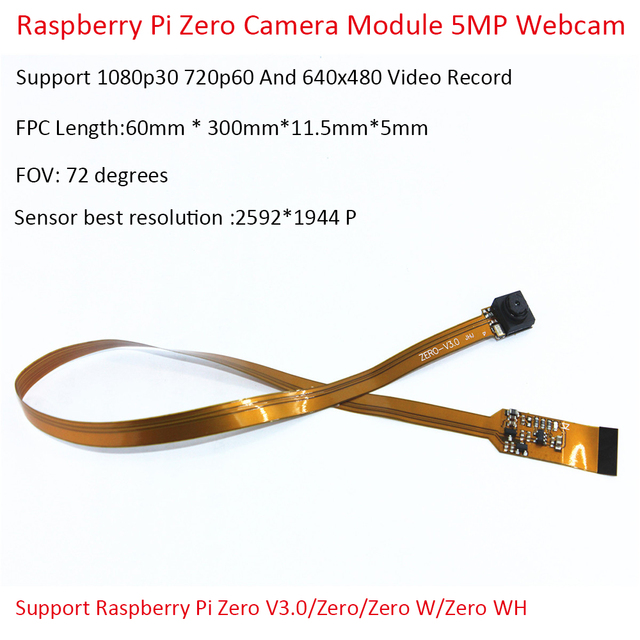 Raspberry Pi Zero Camera Module 5MP Webcam Support 1080p30 720p60 And 640x480 Video Record Support Raspberry Pi Zero V3.0
