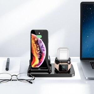 Image 5 - RAXFLY 3 in 1 Telefon şarj tutucu iPhone X XS Max XR 8 7 Kablosuz Manyetik şarj standı Istasyonu Için Apple izle 4 Earpods