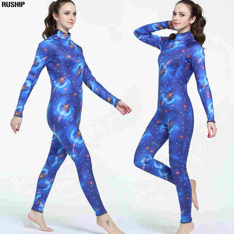 3mm Neoprene women Diving suit High quality wetsuit color stitching Surf Equipment Jellyfish clothing long sleeved piece fitted high quality cortex 3 5mm surf diving wet suits jacket men women surfing diving spearfishing wet suit long sleeve jacket wetsuit