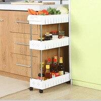 이동식 주방/욕실 스토리지 스토리지 랙 선반 다층 냉장고 사이드 선반과 다목적 선반