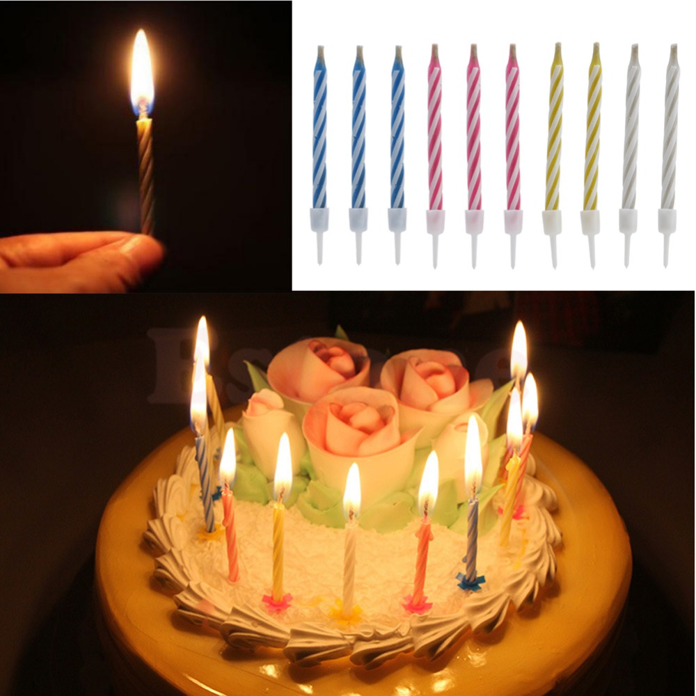 10Pcs Magic Relighting Candles For Birthday Fun Party Cake Boy Girls Trick Toys In Tricks From Hobbies On Aliexpress