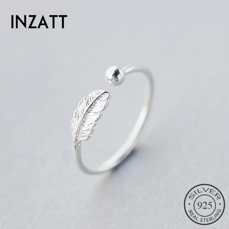 INZATT Adjustable-Ring Fine-Jewelry Elegant-Accessories 925-Sterling-Silver Women Cute