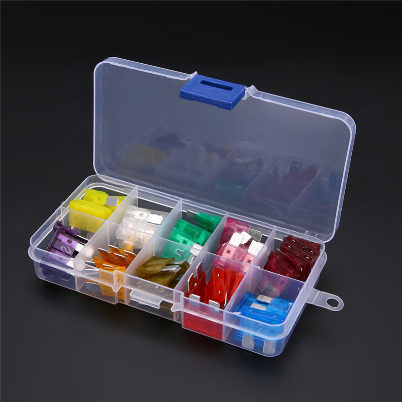 50pcs Mixed Medium Standard Blade Fuse 32V Assortment Kit Car Auto 3A 40A Box For Car Van Truck Coach Bus Motorcycle Quad Boat in Fuses from Automobiles Motorcycles