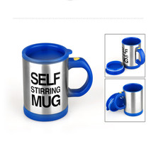 400ml Automatic Electric Lazy Self Stirring Mug Cup Coffee Milk Mixing Mug Smart Stainless Steel Juice Mix Cup Drinkware