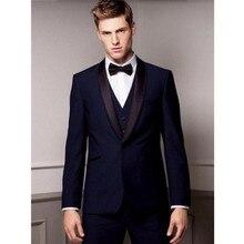 New Arrival men wedding tuxedos purple shawl lapel groom suits men suits prom suits groomsmen suits(jacket+vest+pants)