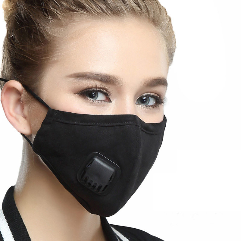 Masks Tcare 1pcs Pure Color Mask Dust Mask Anti Pollution Mask Pm2.5 Activated Carbon Filter Insert Can Be Washed Reusable Pollen Mask Health Care
