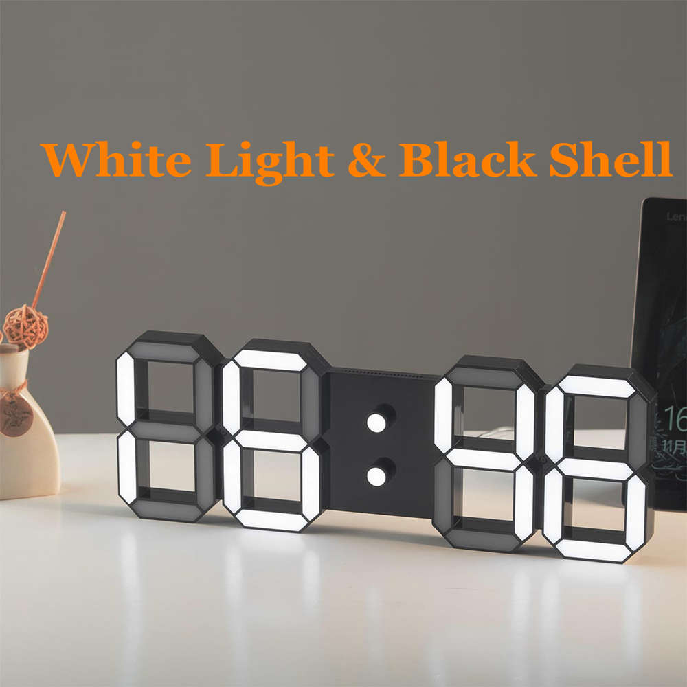 The Lowest Prices DIY Large Remote 3D LED Digital Wall Clock Modern Design  Home Decor Big Countdown Timer Watch Alarm Clocks 1694219958