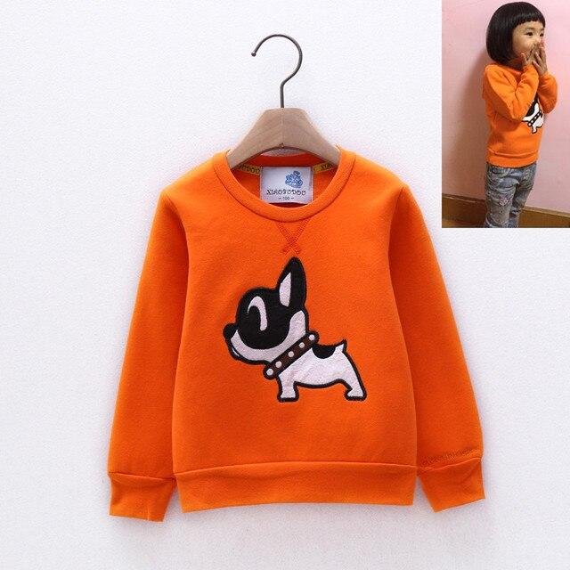 Moleton infantil Infant sweatshirt Kids clothes Infant sweatshirt Warmed Fleece lining moletom infantil Cute embroidery Pullover