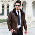 turn down fur collar winter coat middle-aged men thick velvet Men's Leather Jacket Down Coat Winter Jackets for Men Down Jacket