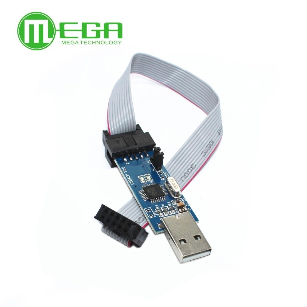 Программатор B202 20 шт./лот USB ISP AVR ATMega ATTiny 51 AVR Board ISP Downloader