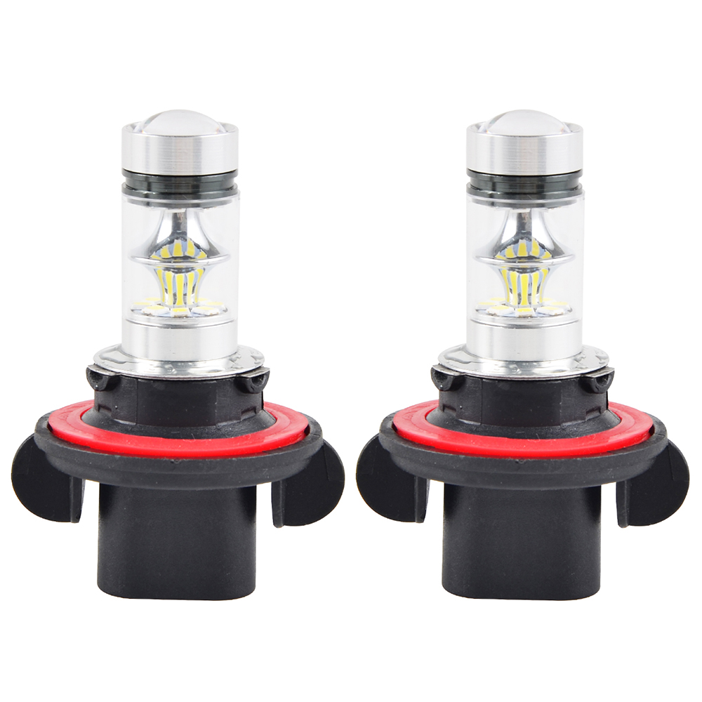 12V 100W Headlight White LED Bulbs Light Lamp For Polaris Ranger 570 800 900 XP800/900 RZR SCRAMBLER 500 850 Outlaw 450 525