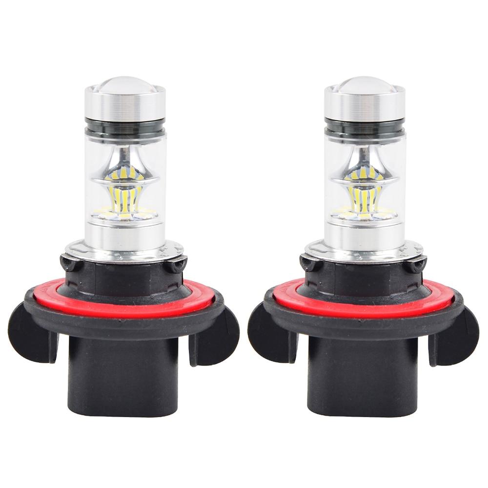 12V 100W Headlight White LED Bulbs Light Lamp For Polaris Ranger 570 800 900 XP800/900 RZR SCRAMBLER 500 850 Outlaw 450 525