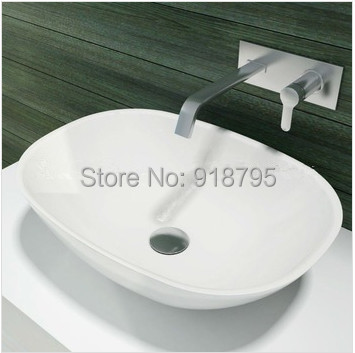 Oval bathroom solid surface stone counter top Vessel sink fashionable Corian washbasin RS38202 549