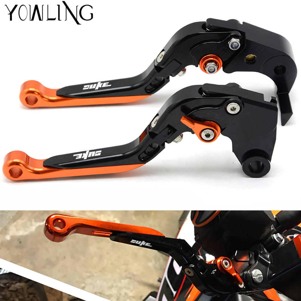 Motorcycle Accessories Adjustable Extendable Brake Clutch Levers for KTM 390 Duke/RC390 RC125/125 Duke RC200 2014 2015 2016 2017 for ktm duke 125 200 390 2012 2013 2014 2015 motorcycle adjustable folding brake clutch levers handlebar hand grips