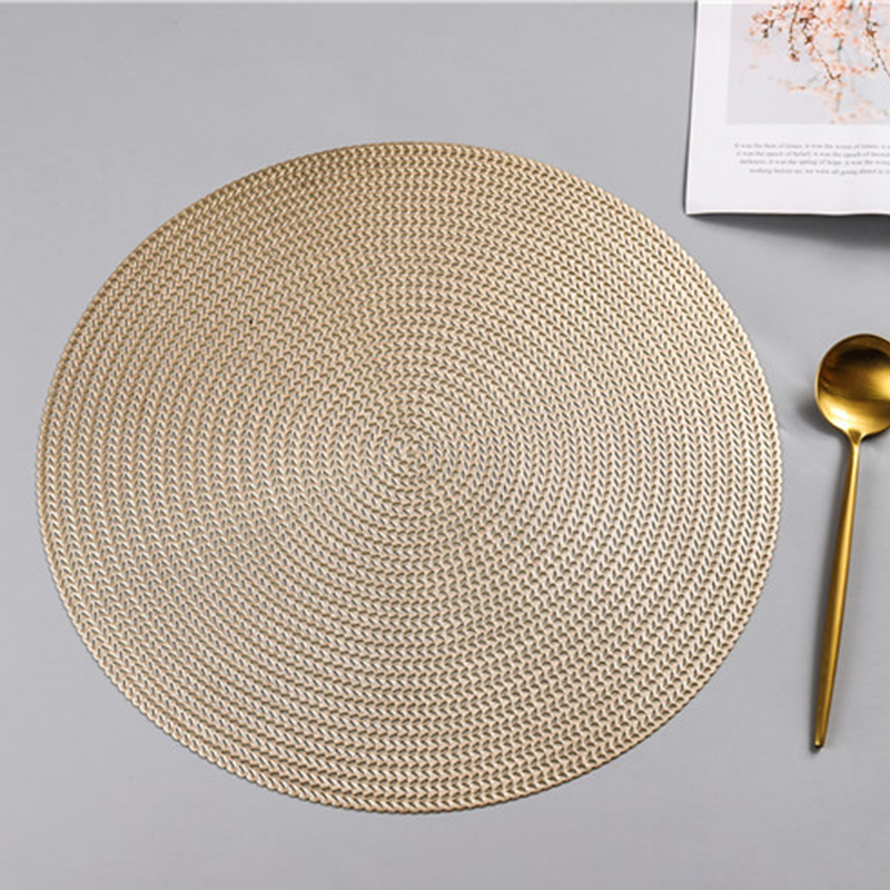 Round PVC Anti-scalding Insulation Placemat 11