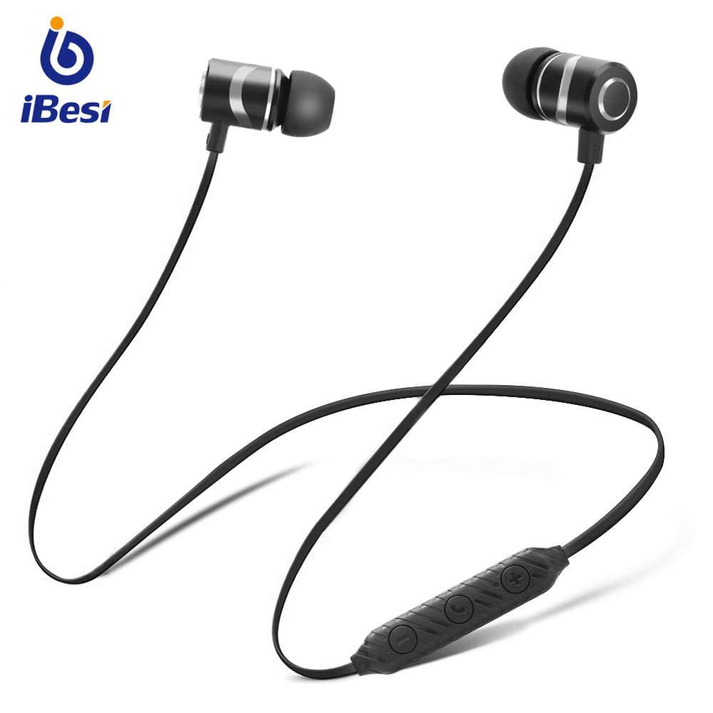 IBESI L08 <font><b>Bluetooth</b></font> Neckband <font><b>Earphone</b></font> Wireless Sport Bass Earbuds Stereo Headphones Waterproof IPX5 with Mic for xiaomi Phone image