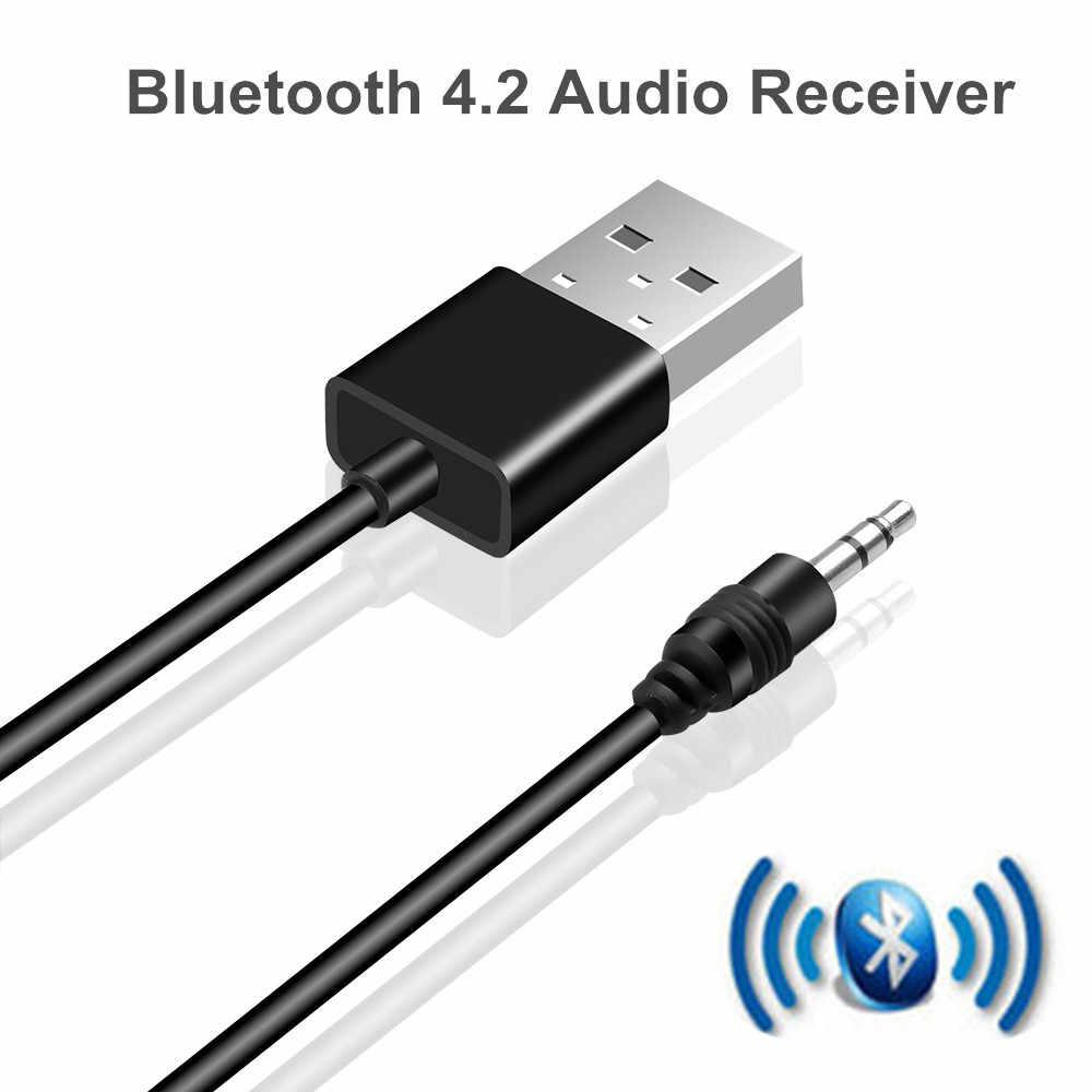 Receptor Bluetooth 4,2 Audio inalámbrico Kit de coche 3,5 MM Jack AUX MP3 adaptador de música para coche FM Radio reproductor de MP3 ordenador teclado de TV