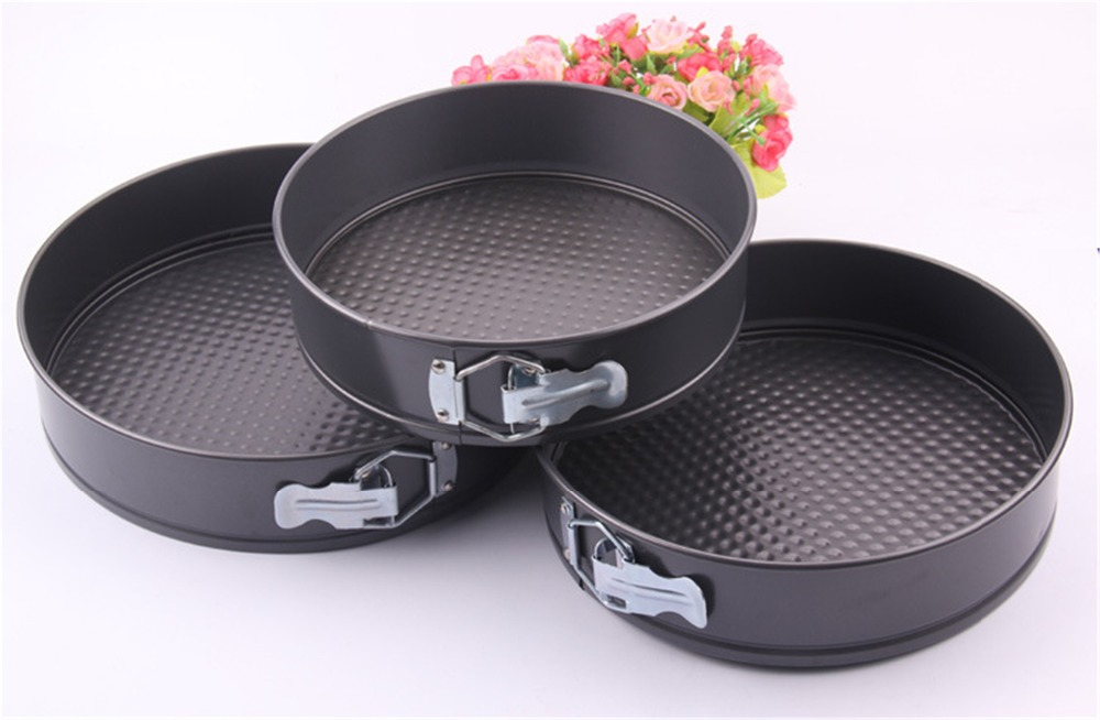 3 Pcs Round Shape Loose Base Springform  Inch 11 Inch Nonstick Cake Baking Toolshigh Quality Metal Christmas Cake Mold
