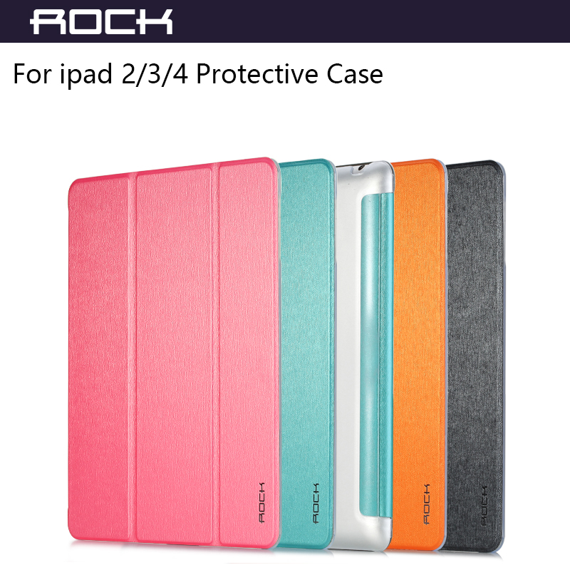 For ipad 2  3  4 Tablet PC Colorful Multifaceted Protective Leather Case Rock