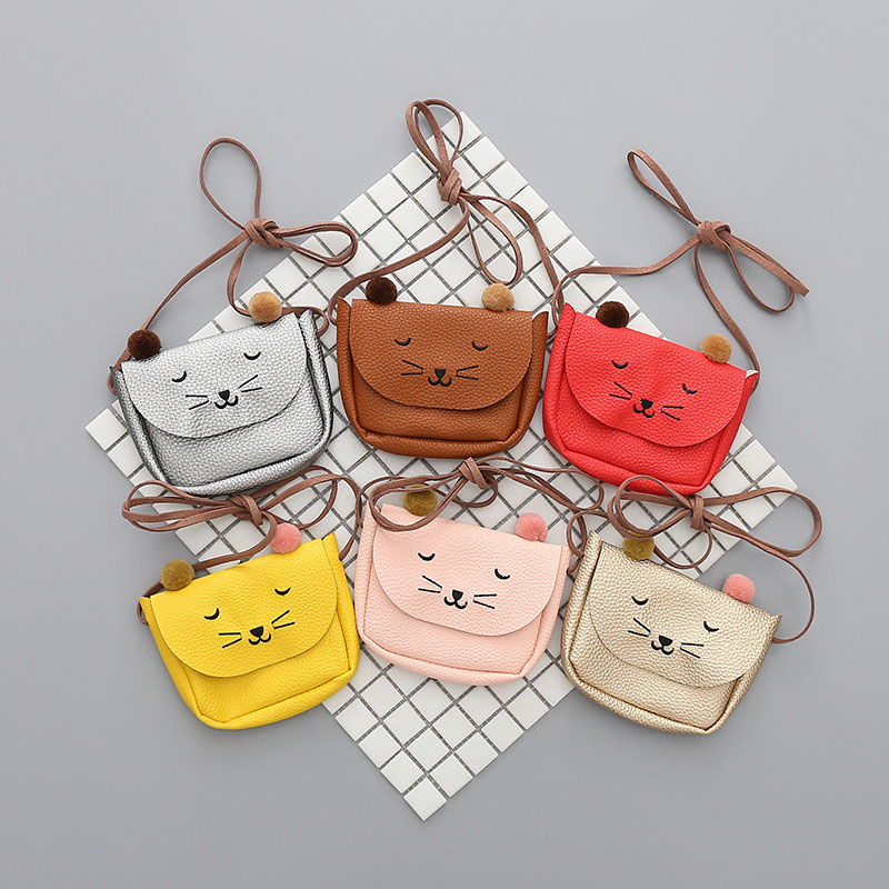 Mini Shoulder Bag Cute Cat Ear Messenger Bag Women Kids All-Match Key Coin Purse Cartoon Lovely Handbags Simple girl Clutch(China)