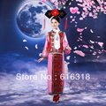 Traje Antigua Dinastía Qing de China Manchú Princesa Ropa